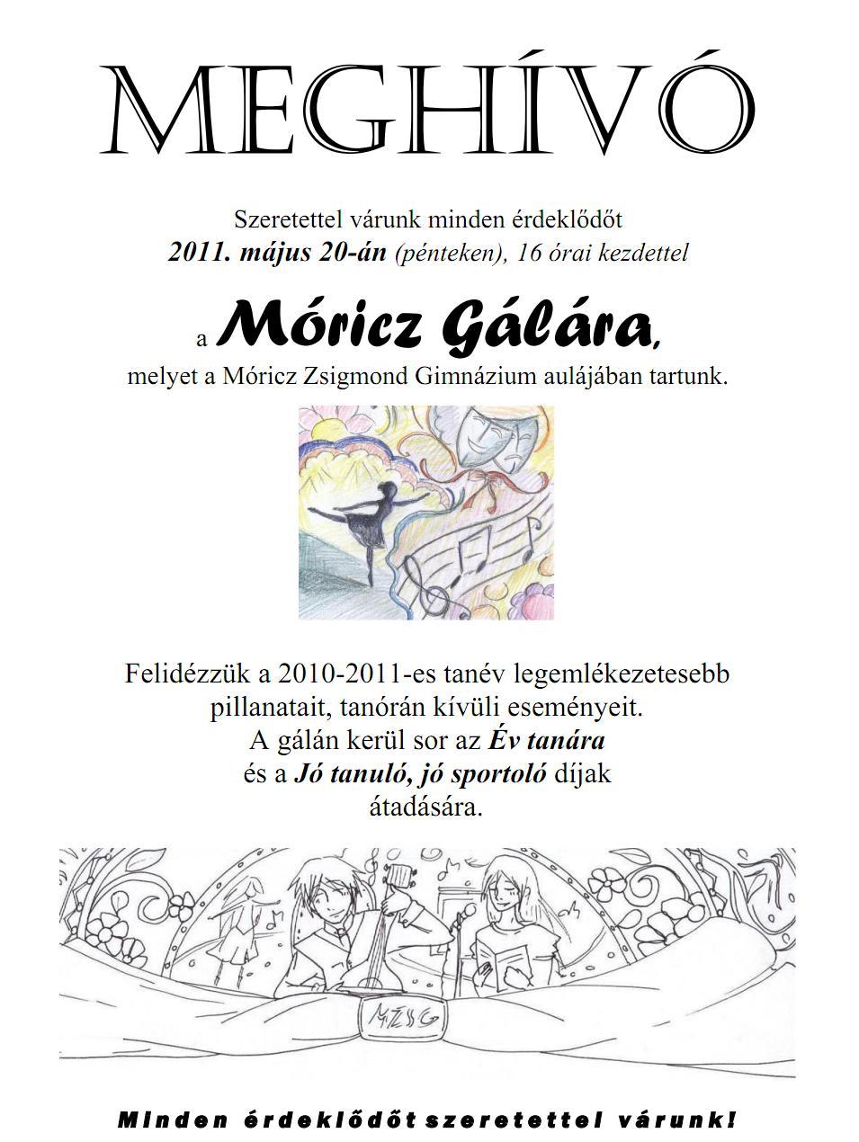 Móricz Gála 2011 – Meghívó