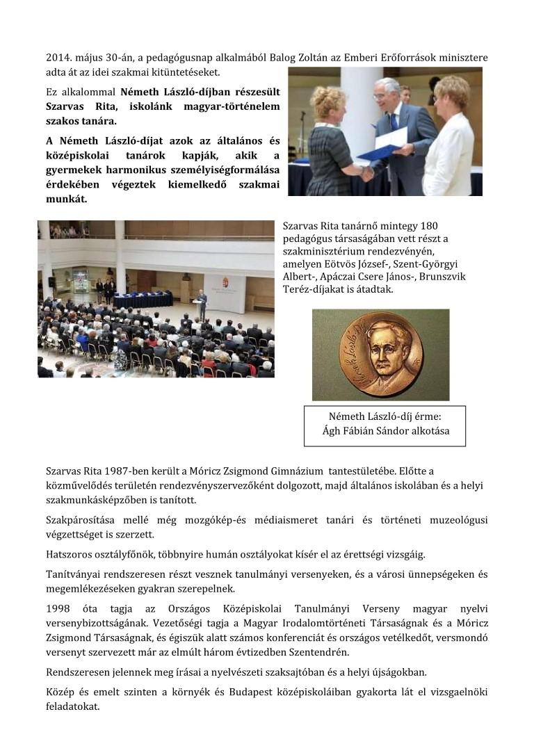 Németh László-díj 2014 átadás
