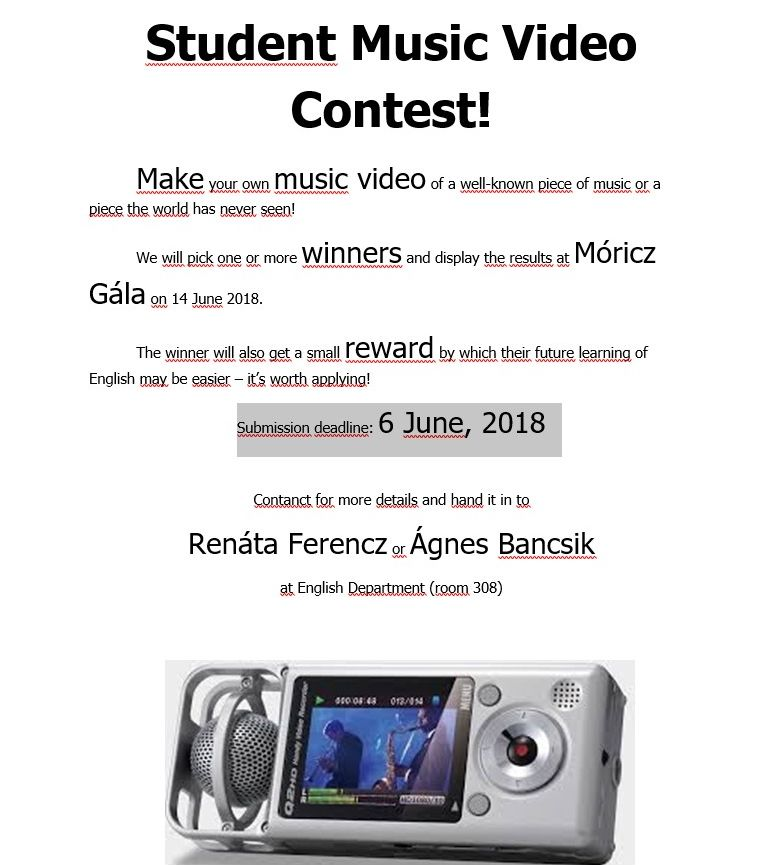 Student Music Video Contest!